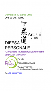 Stage di Difesa personale presso tennis club Casciago 12 aprile 2015